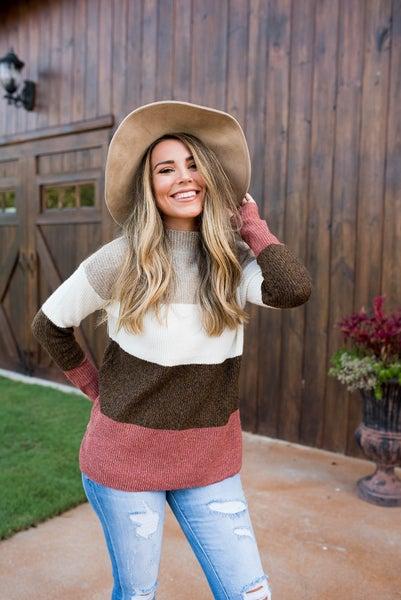 The Aubrey Color Block Sweater