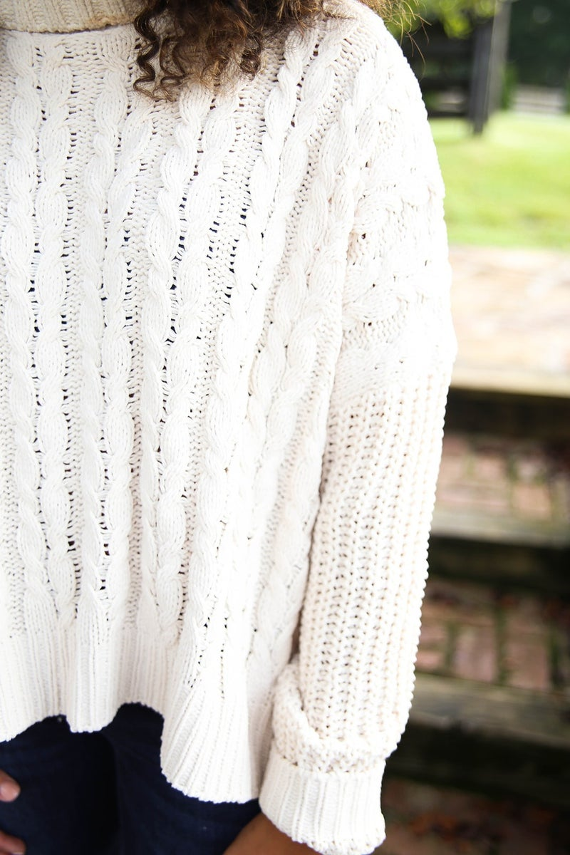 Fav Cable Knit POL Sweater