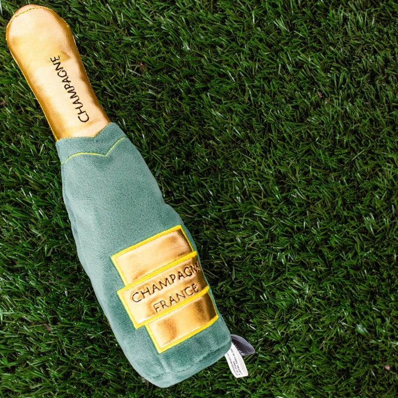 Champagne Bottle Dog Toy