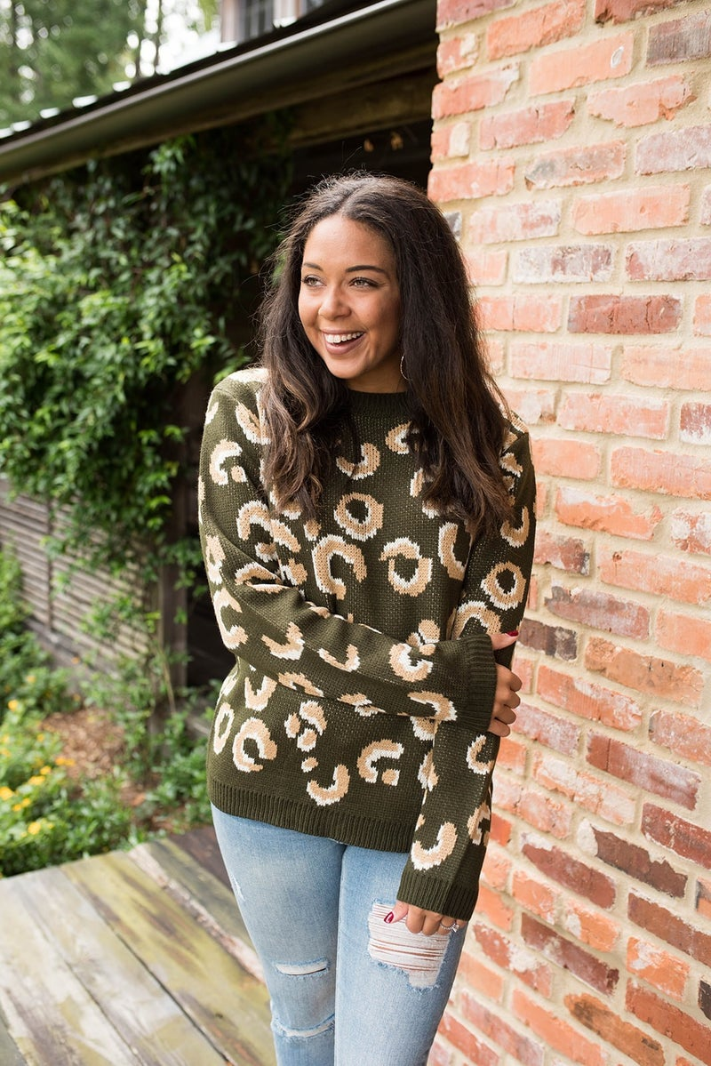Olive's Cheetah Sweater