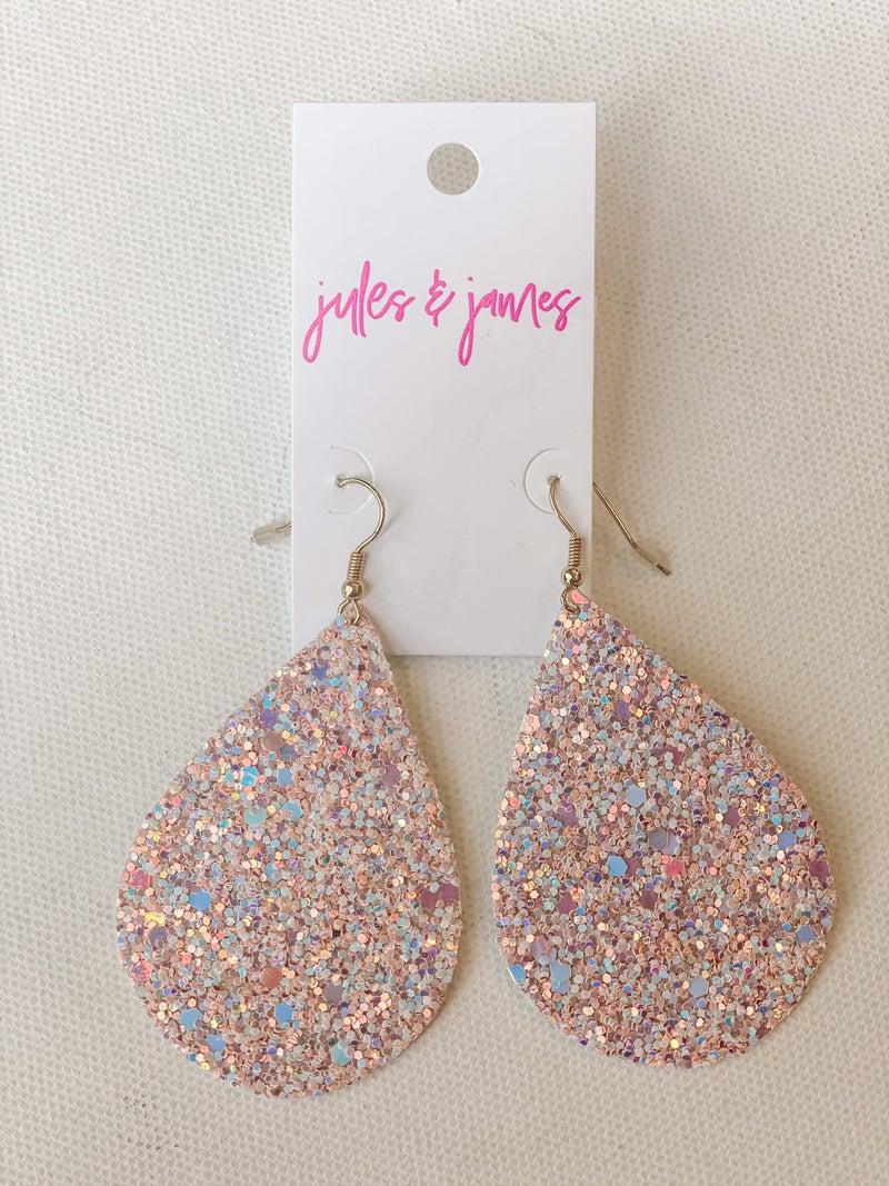 Glitter Drop Earrings