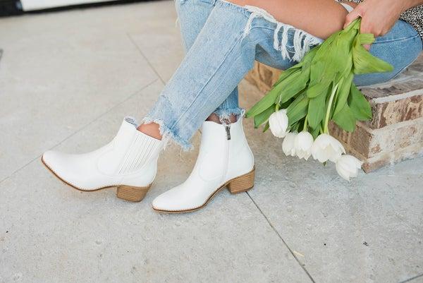 Corkys' White Trendy Booties