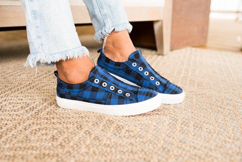 Blue Buffalo Plaid Sneakers