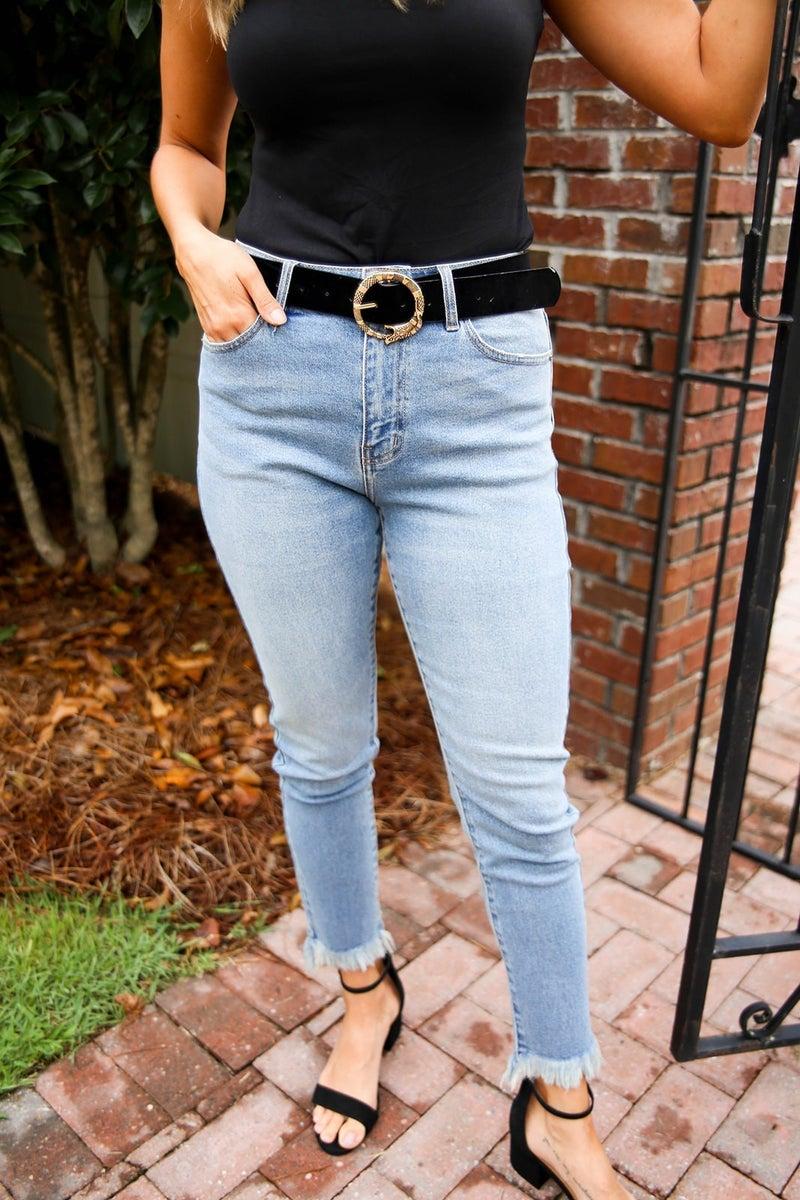 The Caroline High Rise Skinny Jeans