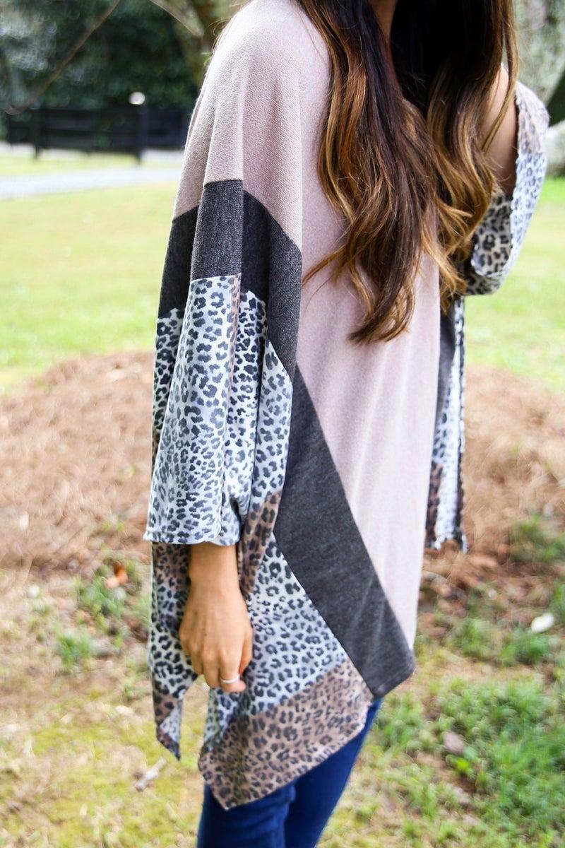 Wrapped in Cheetah Kimono