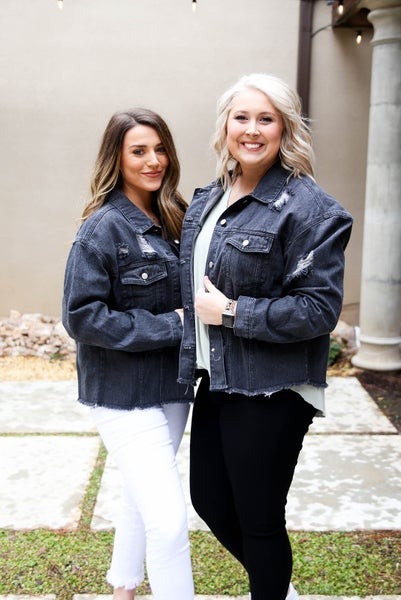 Girls Night Out Black Denim Jacket