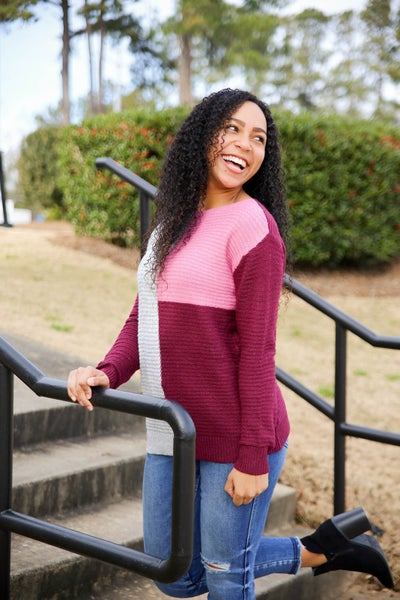 Cranberry Crush Sweater