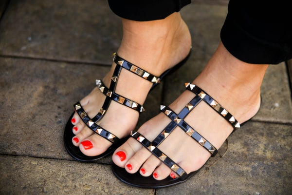 Valentino Inspired Jelly Flat Sandals