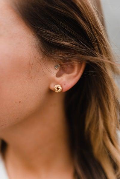 Gold Knot Earrings *Final Sale*