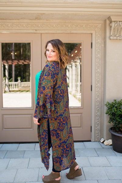 Pretty in Paisley Kimono
