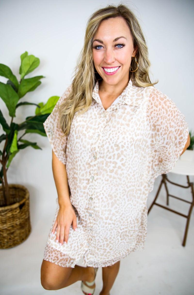 Breanne's Button Up Cheetah Dress