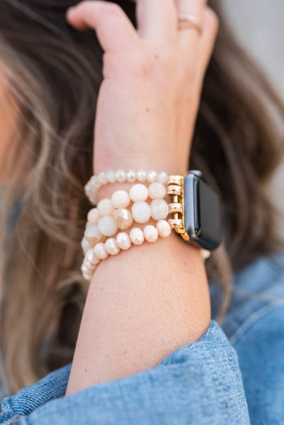 Pearl & Beads Apple Watch Band *Final Sale*