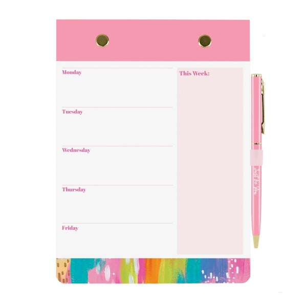Brushstrokes Weekly Planner with Pen