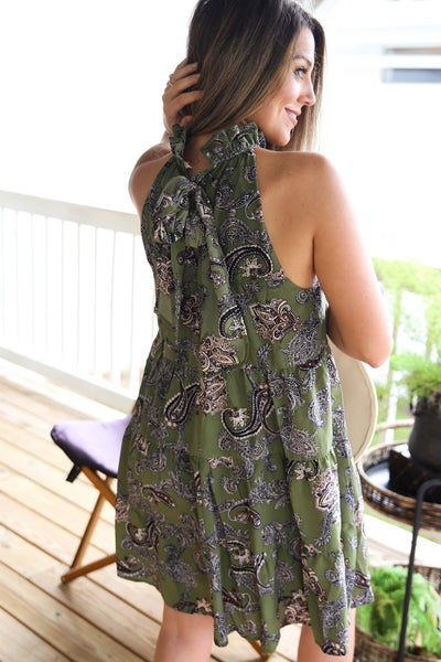 Pretty in Paisley Dress IN LIVE