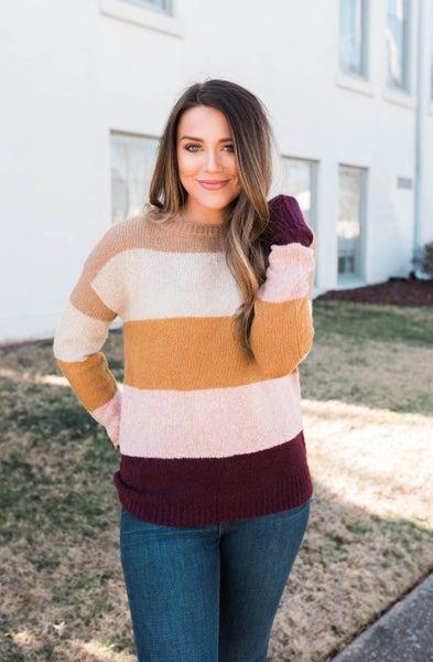 Born to Love Color Block Sweater