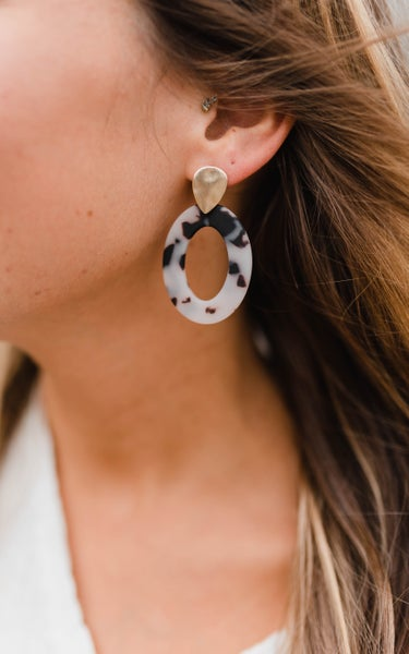 Marbled Touch Earrings *Final Sale*