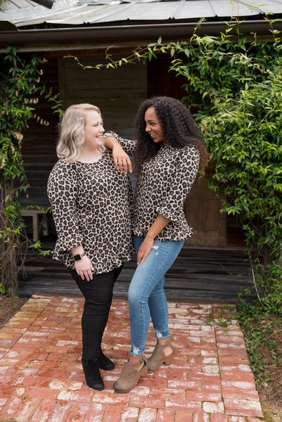 Ruffled in Cheetah Top