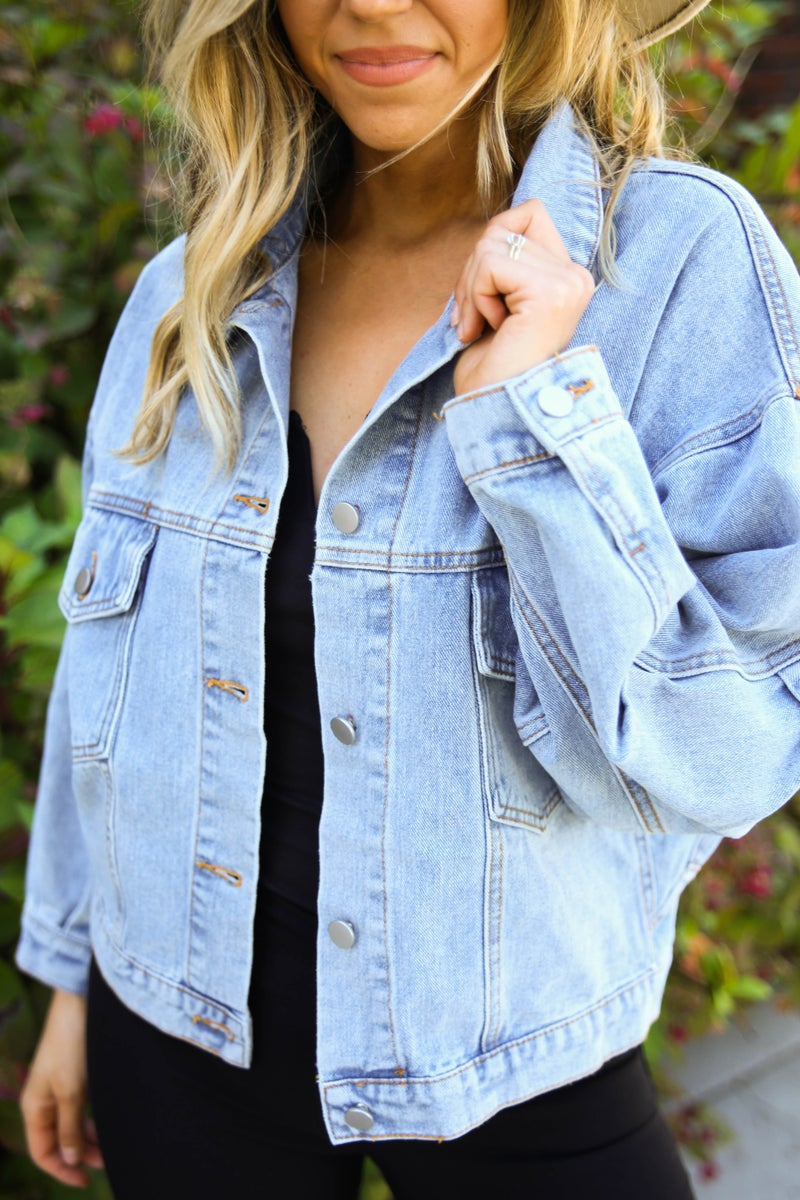 Retro Vibes Denim Jacket