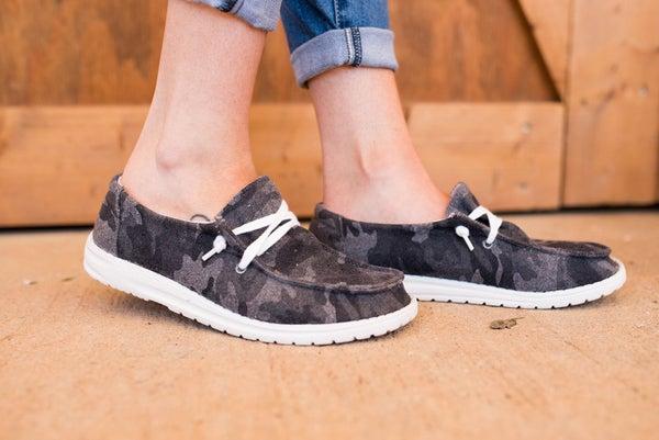 Trendy in My Camo Sneakers