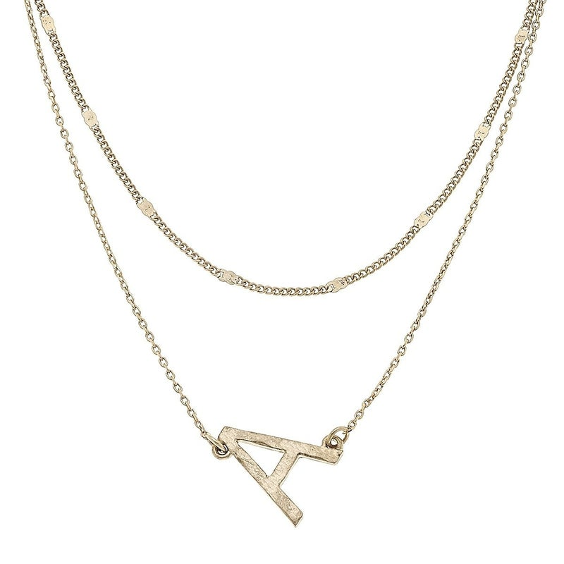 Layered Initial Necklace