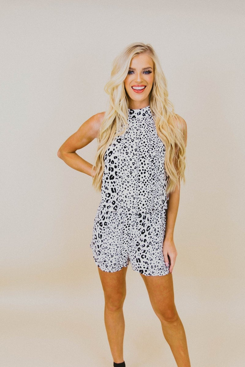 Spotted Perfection Romper *Final Sale*