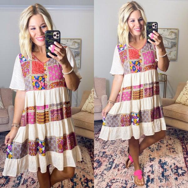 Pretty in Patchwork Dress