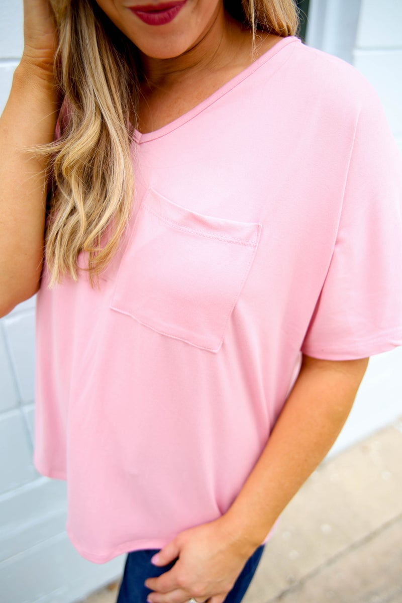 My First Love Basic V Neck Top
