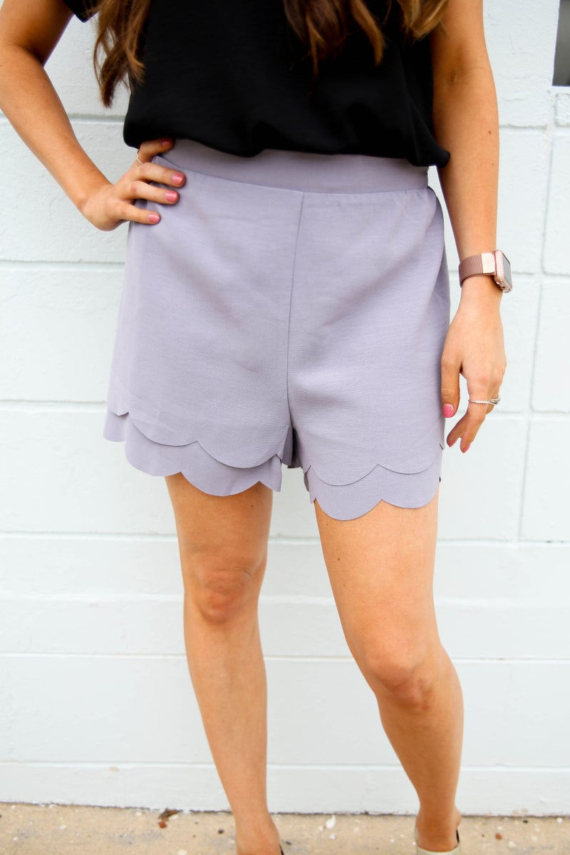 Serena's Scalloped Shorts