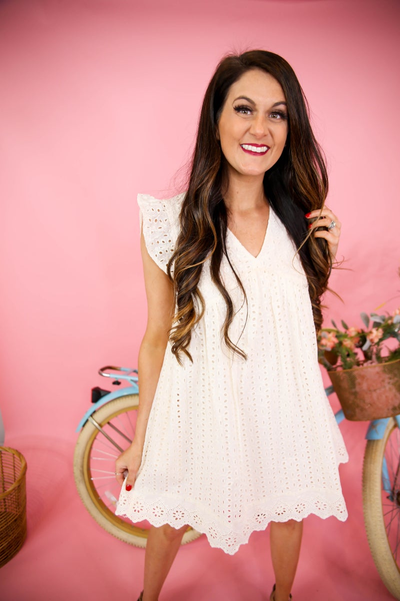 Sweet & Simple Eyelet Dress