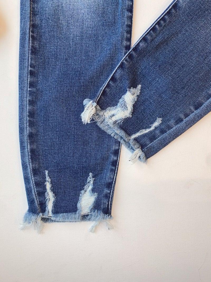 Judy Blue High Rise Destroy Hem Skinny