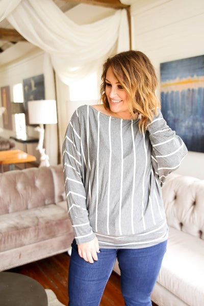 Mama Looks Good in Stripes Top