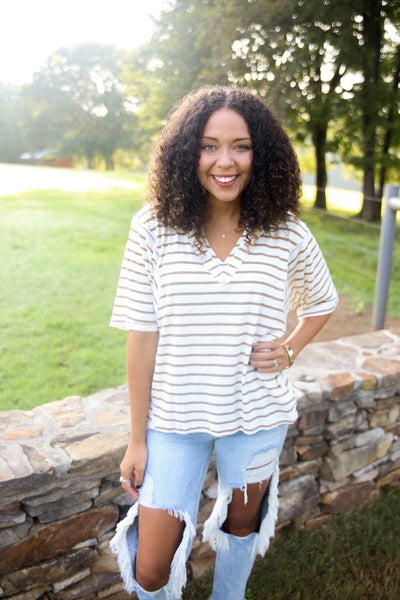 Boyfriend Striped Top *Final Sale*