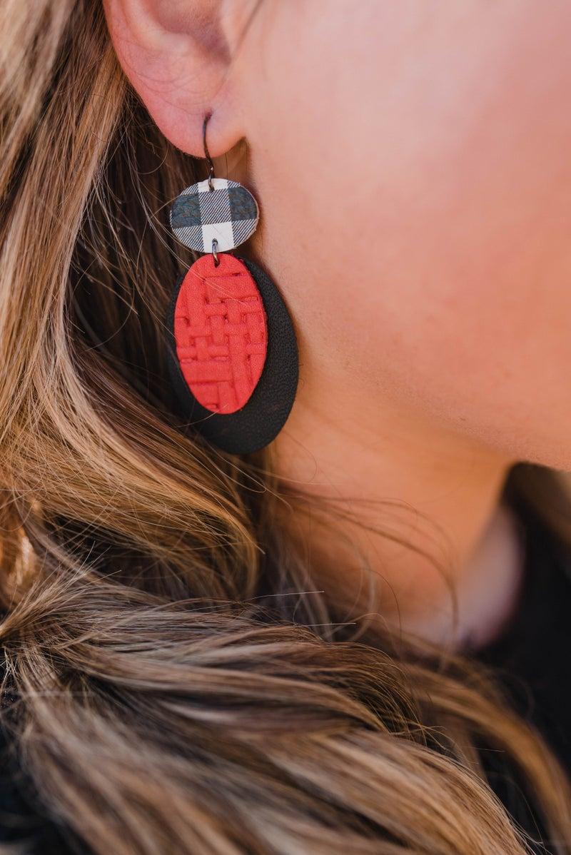 Hometown GA Oval Earrings