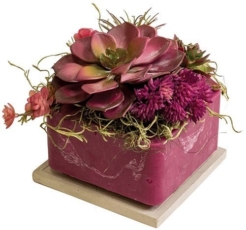 Succulent Flameless Candle