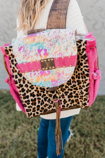 The Gracie Lynn LV Upcycled Backpack