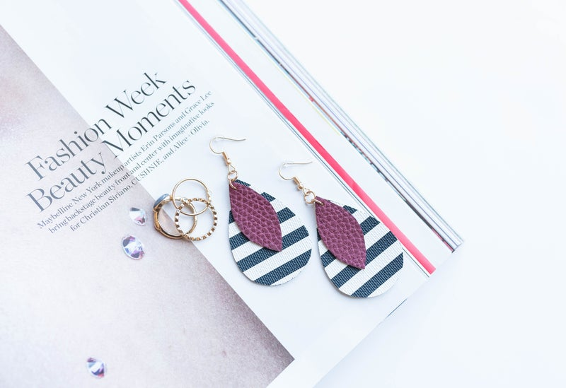 Teardrop Stripe Earring *Final Sale*
