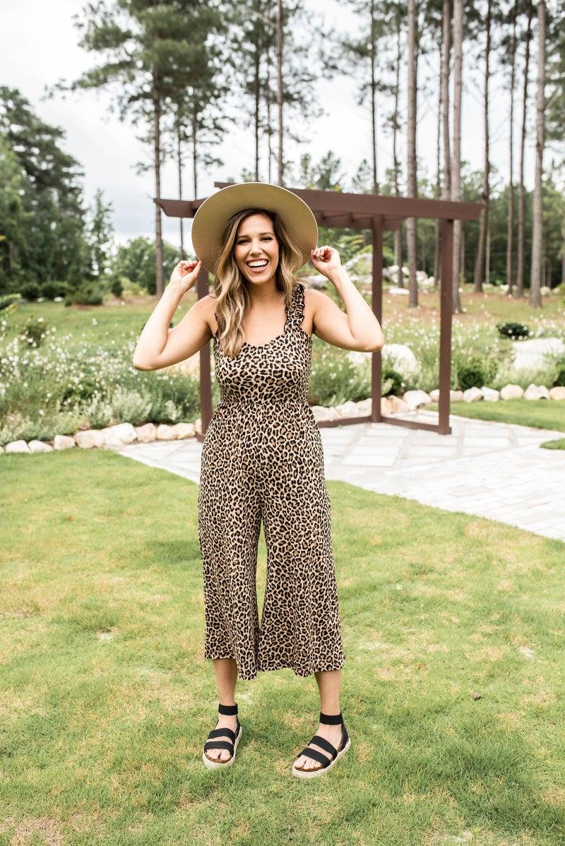Wild About Comfy Cheetah Jumpsuit