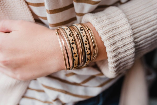 Stacked with Cheetah Bracelet