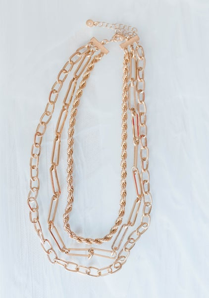 Layered with Chains Choker