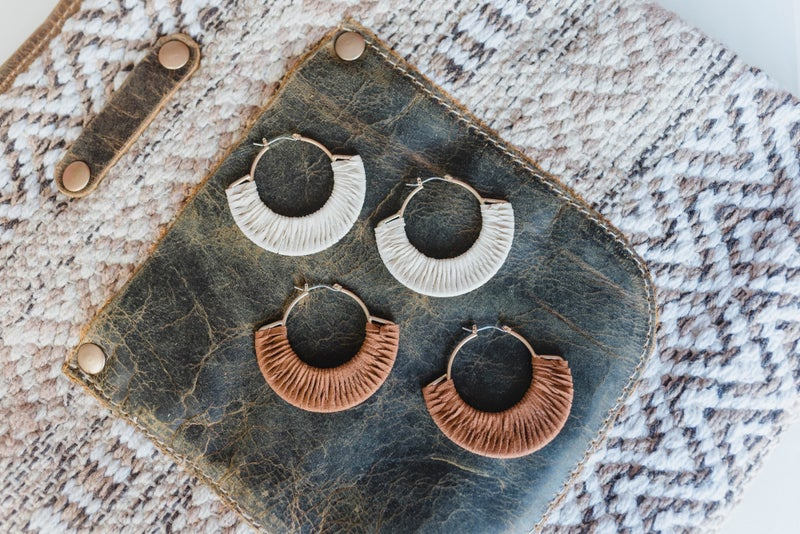 The Julie Suede Leatherette Earrings