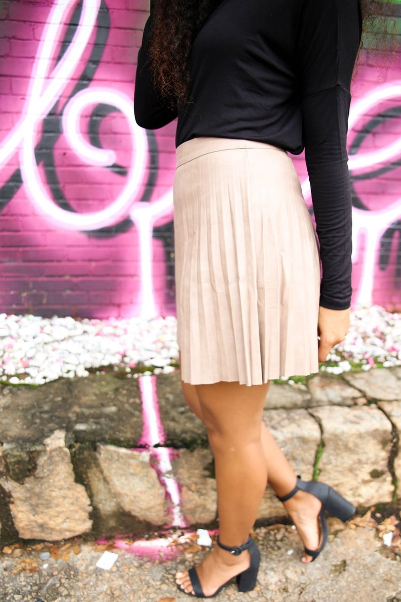 Pleats to Meet You Skirt