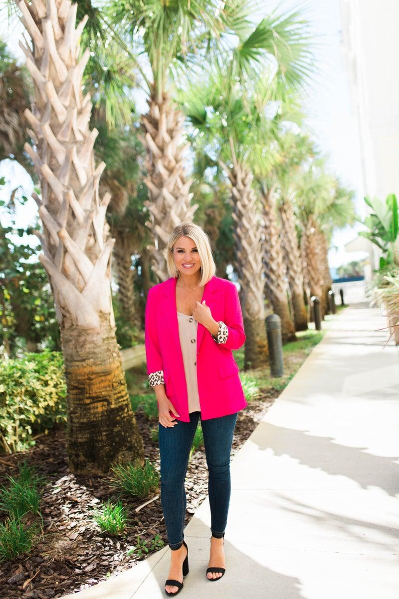 Chic in Pink Blazer