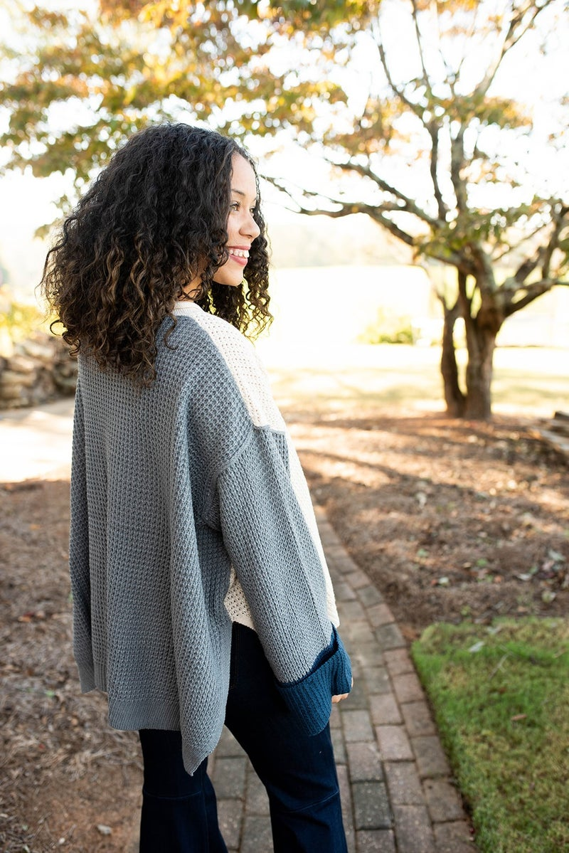 Feel the Breeze Color Block Sweater