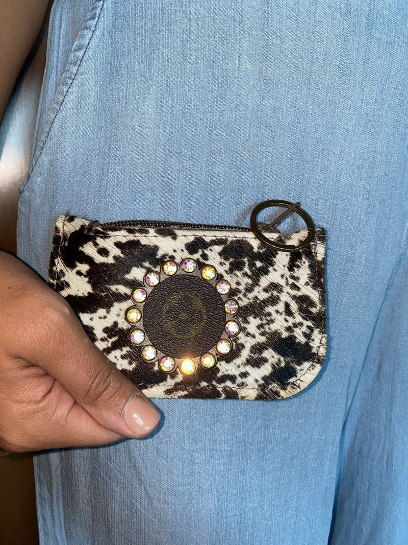 Keep It Gypsy Upcycled Designer Coin Pouch Key Chain