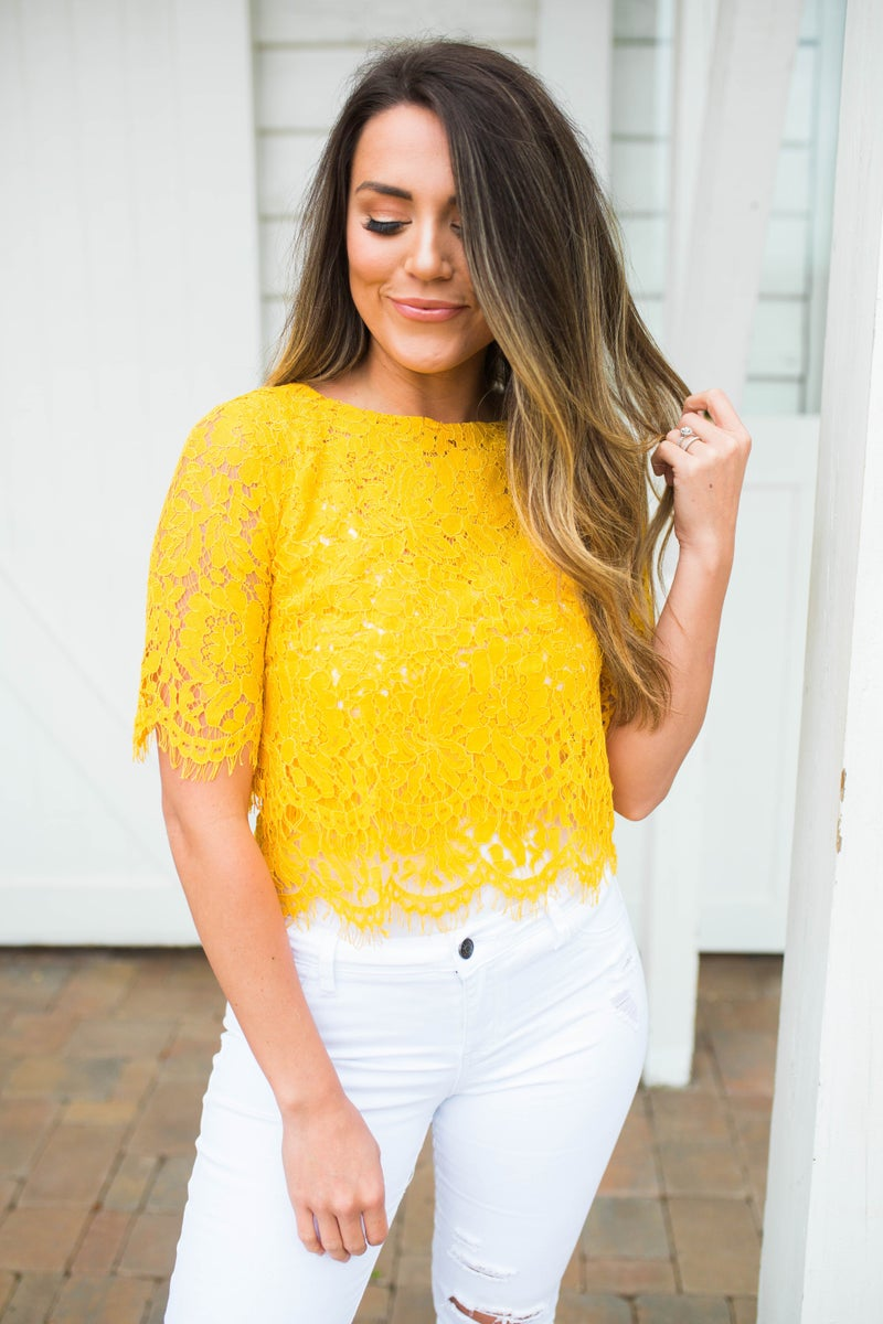 Enchanted To Meet You Lace Top *Final Sale*