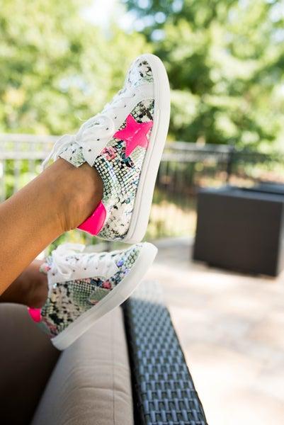 Pop of Pink Sneakers