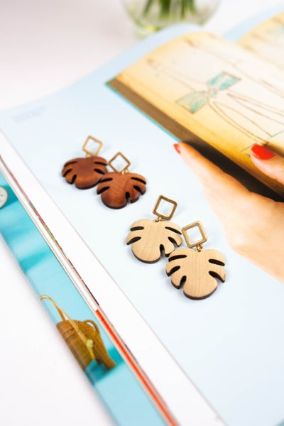 Tropic Like It's Hot Wooden Earrings