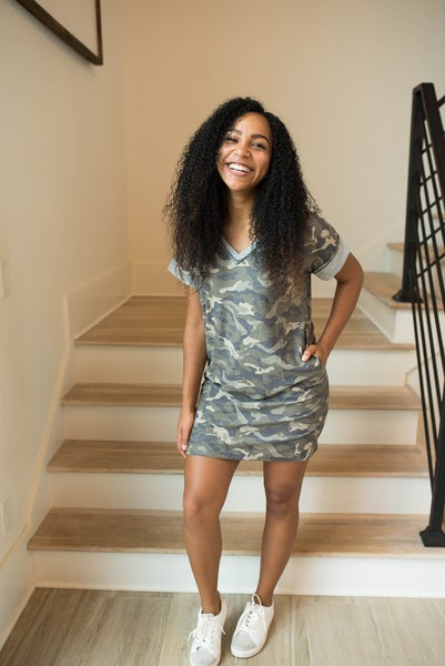 Casual in Camo Dress