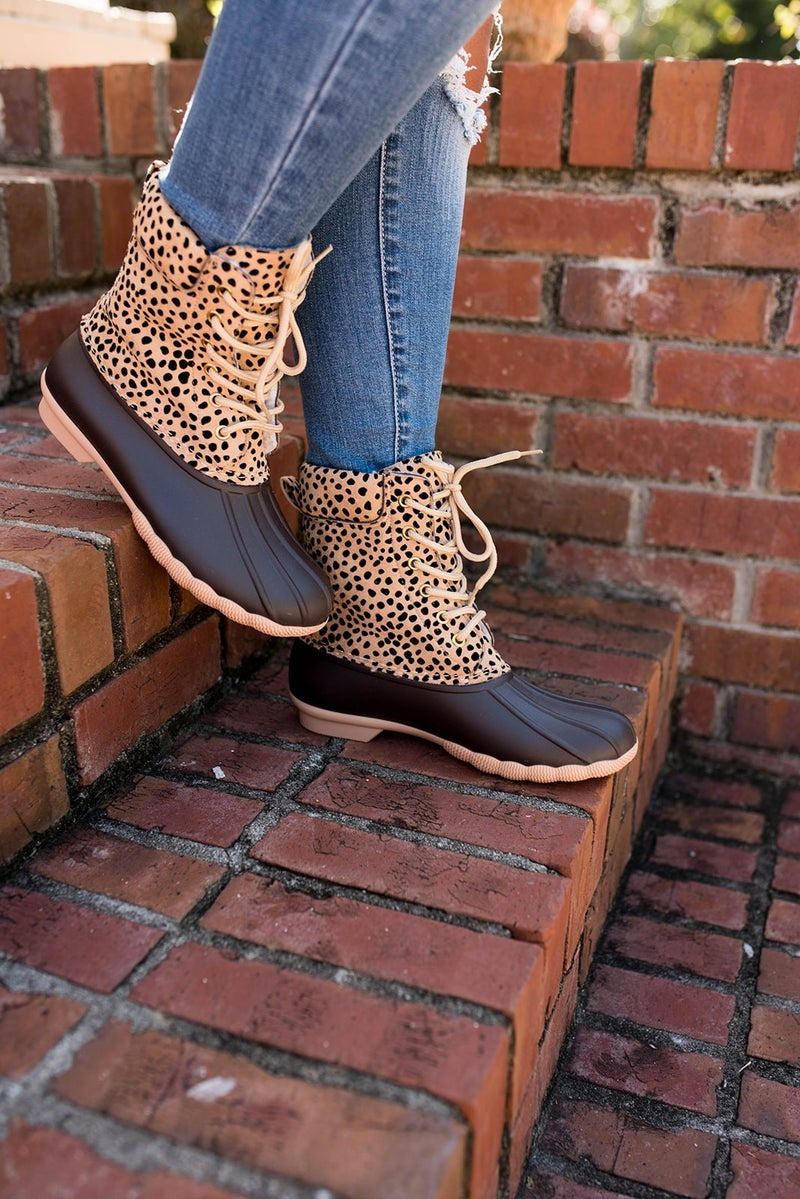 Cheetah Duck Boots