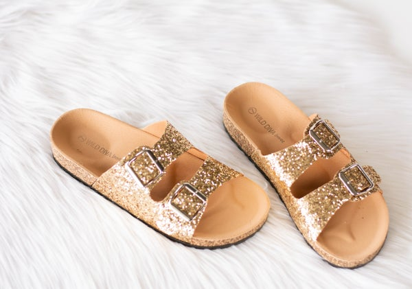 Dripping in Gold Sandals *Final Sale*